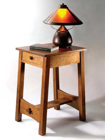 Craftsman style end table plans woodworktips for Side table plans