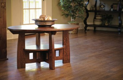 Craftsman style coffee table