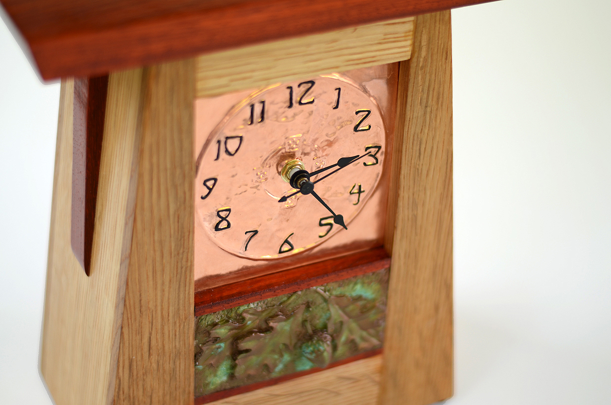 Copper face mission style clock new mission workshop mission clock craftsman clock amipublicfo Gallery