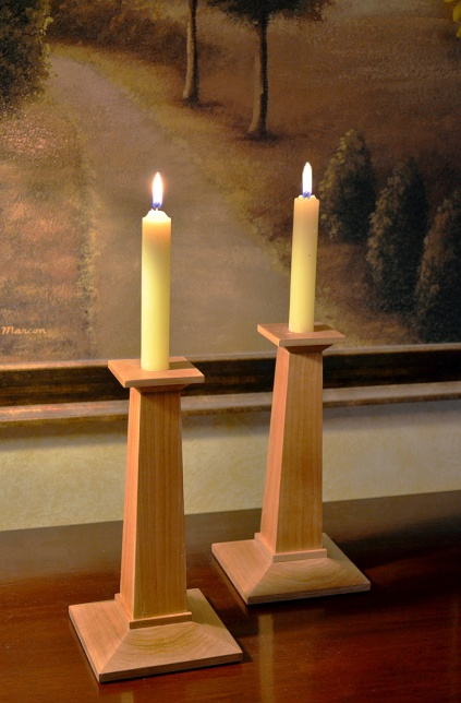 cherry candle stick holder