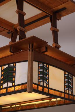 Mission ceiling lamp close