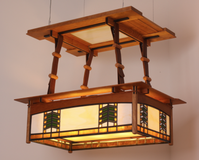 Mission ceiling lamp