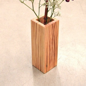 Rustic Reclaimed Wood Vase