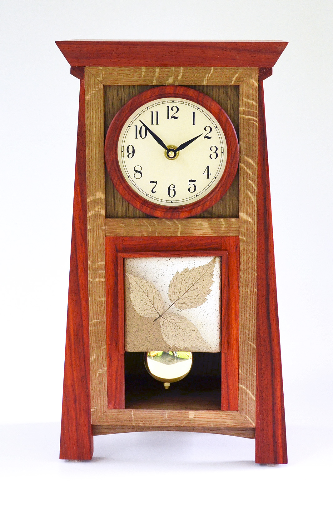 Arts and crafts mantle clock - Simple Sophistication