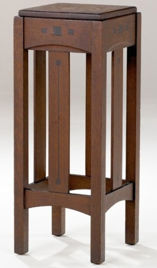 Limbert Ebon-Oak Fern Stand With Square Top